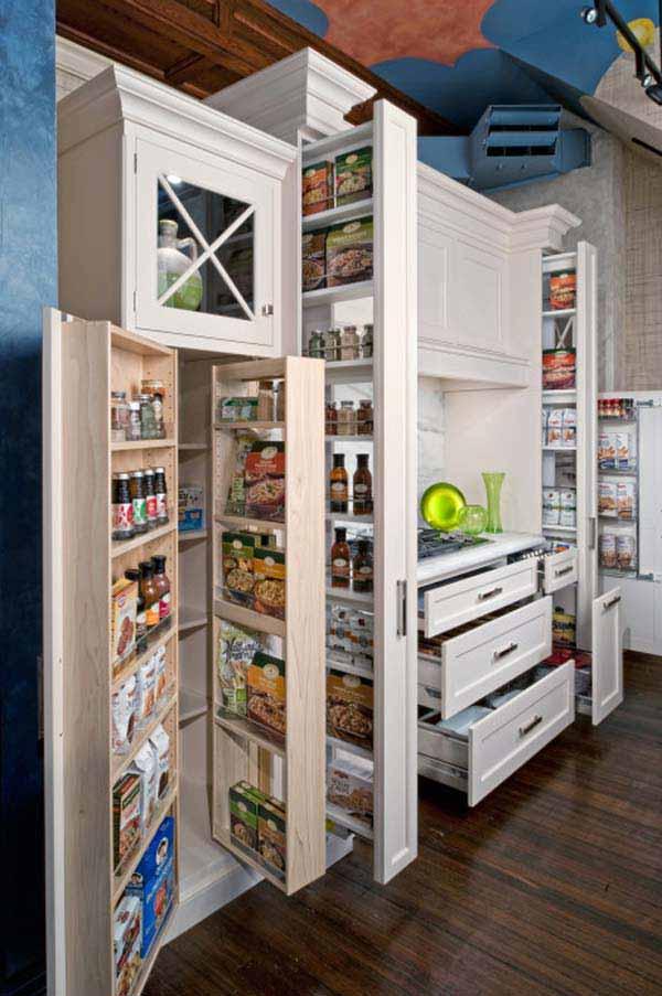 Cette armoire multi-rangement et multi-fonctionnel est un must à avoir, qu'en pensez-vous ? Quand on pense au peu de superficie qu'elle occupe dans la cuisine une fois toutes les portes et tiroirs refermés!