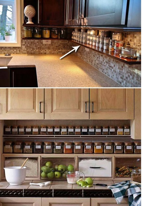 10 astuces pour un rangement plus efficace des armoires et - Rangement epices cuisine ...