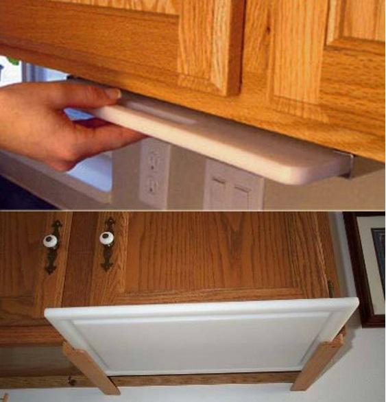 10 astuces pour un rangement plus efficace des armoires et - Planche a decouper cuisine ...