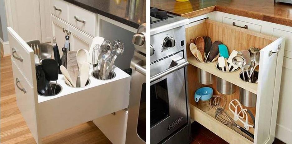 10 astuces pour un rangement plus efficace des armoires et tiroirs de la cuisine. Black Bedroom Furniture Sets. Home Design Ideas