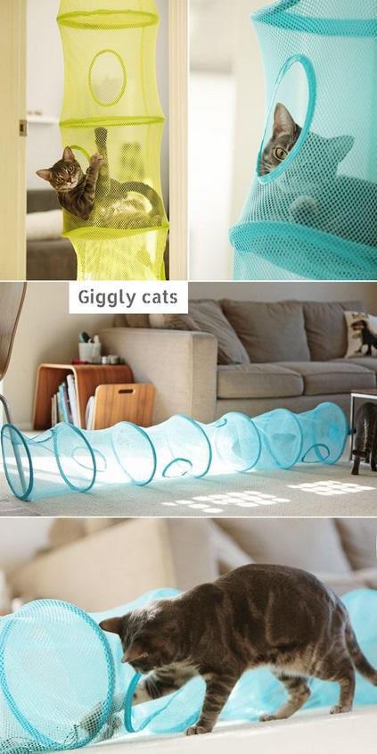 8 astuces g niales pour r cup rer des trucs dans la maison pour amuser votre chat. Black Bedroom Furniture Sets. Home Design Ideas
