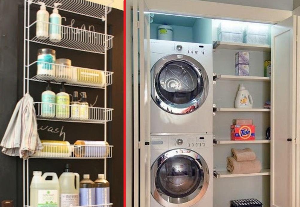 7 astuces pour gagner de l 39 espace dans votre salle de lavage et buanderie. Black Bedroom Furniture Sets. Home Design Ideas
