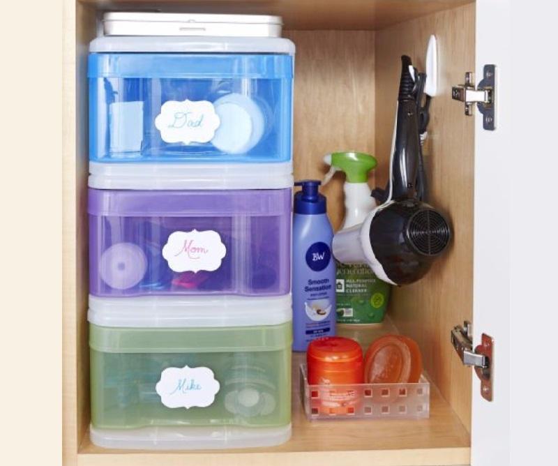 8 id es ing nieuses pour ranger toute la maison avec des bacs de rangement en plastique. Black Bedroom Furniture Sets. Home Design Ideas