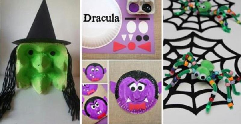 7 superbes bricolages faire avec les enfants pour c l brer l 39 halloween. Black Bedroom Furniture Sets. Home Design Ideas
