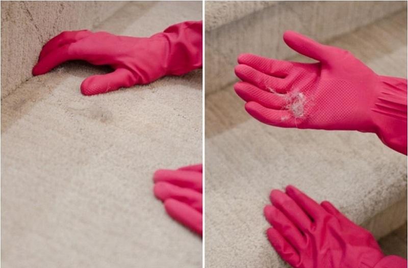10 astuces g niales qui changeront votre fa on de nettoyer votre maison - Gant pour enlever poils chat ...