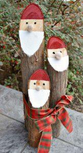 10 décorations de Noël à faire avec de vieilles bûches de bois