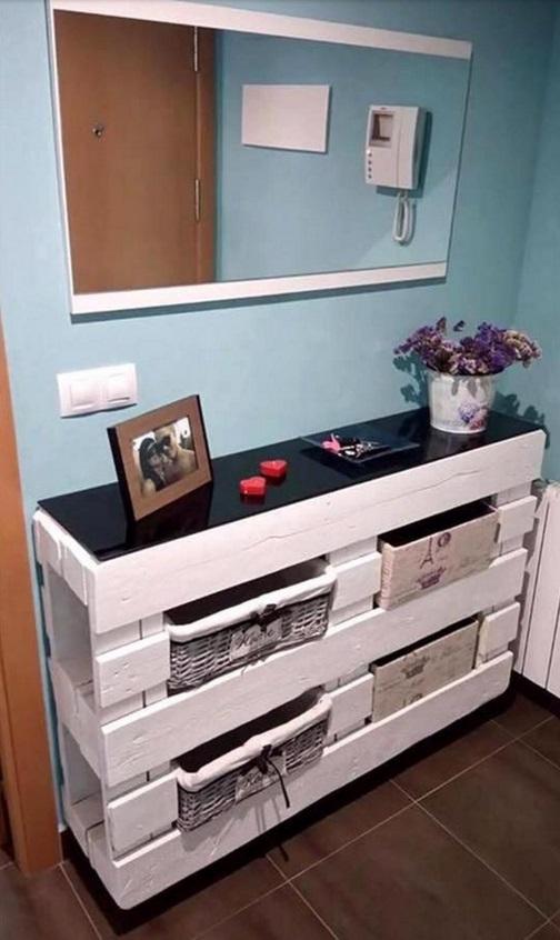 voici comment transformer des palettes et des caisses de bois en de jolis meubles. Black Bedroom Furniture Sets. Home Design Ideas