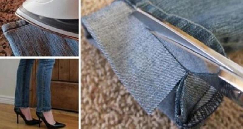 ne payez plus pour faire les ourlets de vos jeans trop longs cette technique est parfaite. Black Bedroom Furniture Sets. Home Design Ideas