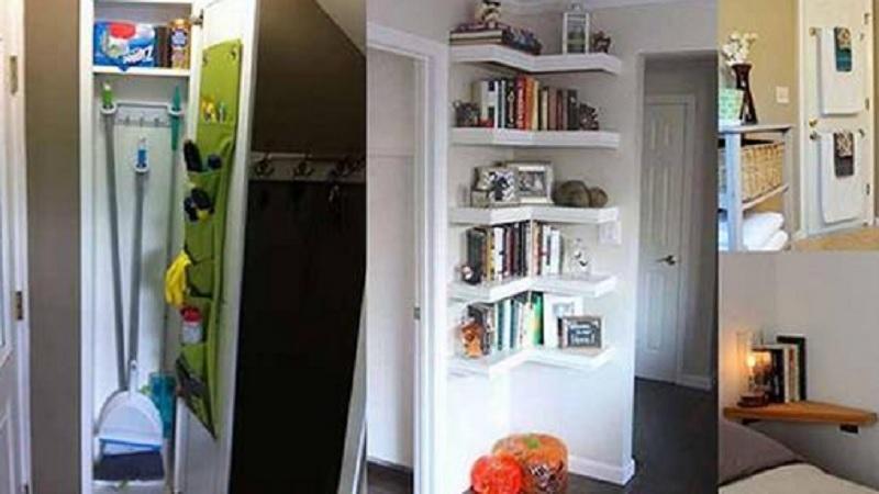 20 astuces ing nieuses pour gagner de l 39 espace dans un petit appartement. Black Bedroom Furniture Sets. Home Design Ideas