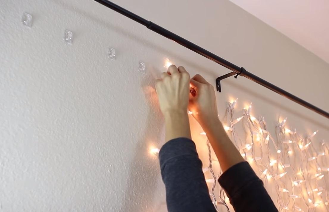 Idée Déco Chambre Simple idÉe dÉco : installer des mini-lumières sur le mur de votre
