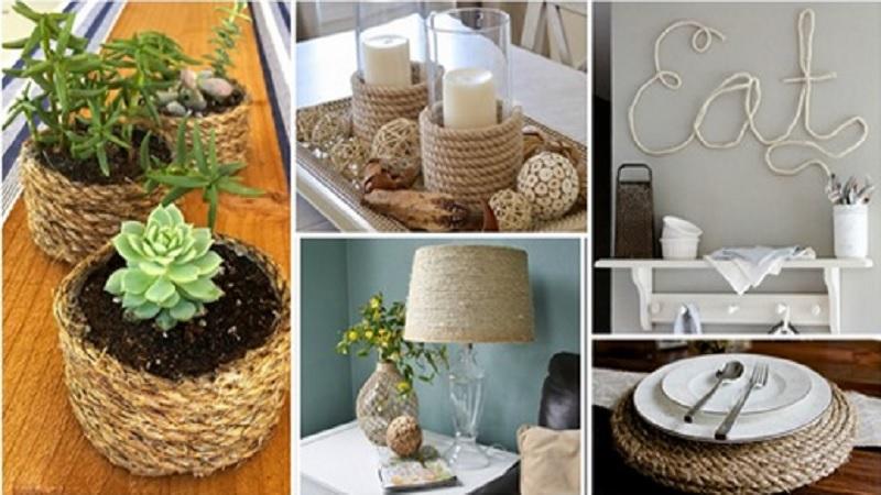 11 Superbes Idées Déco à Réaliser Avec De La Corde Pour Embellir Votre Maison