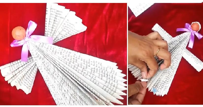 Comment Faire Un Ange De Noel Avec Un Vieux Livre Un Bricolage Facile