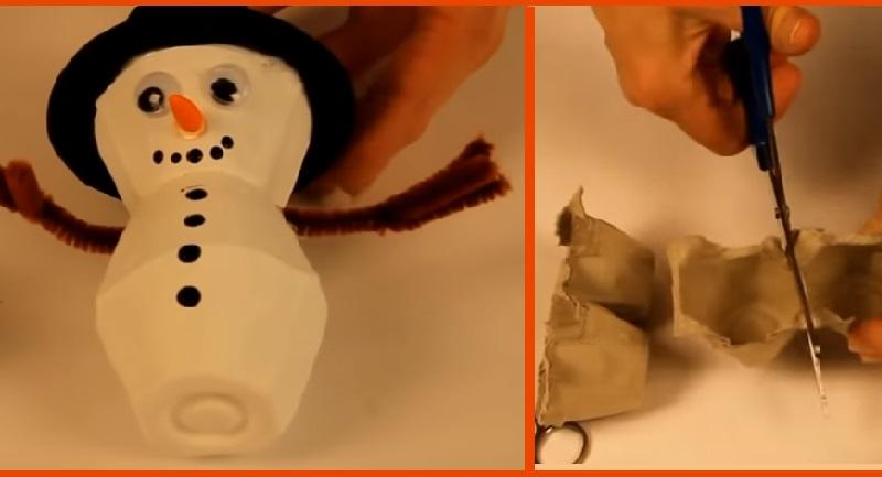 Comment Faire Un Bonhomme De Neige Avec Un Carton D œufs Un Bricolage Facile